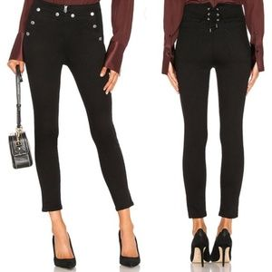 rag & bone Penton black skinny high rise jeans 28